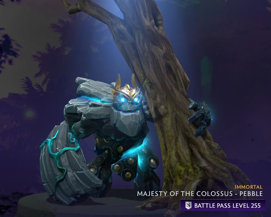 tiny pebble majesty of the colossus prestige item dota 2 hero the international 2019 ti9 battle pass unikrn news